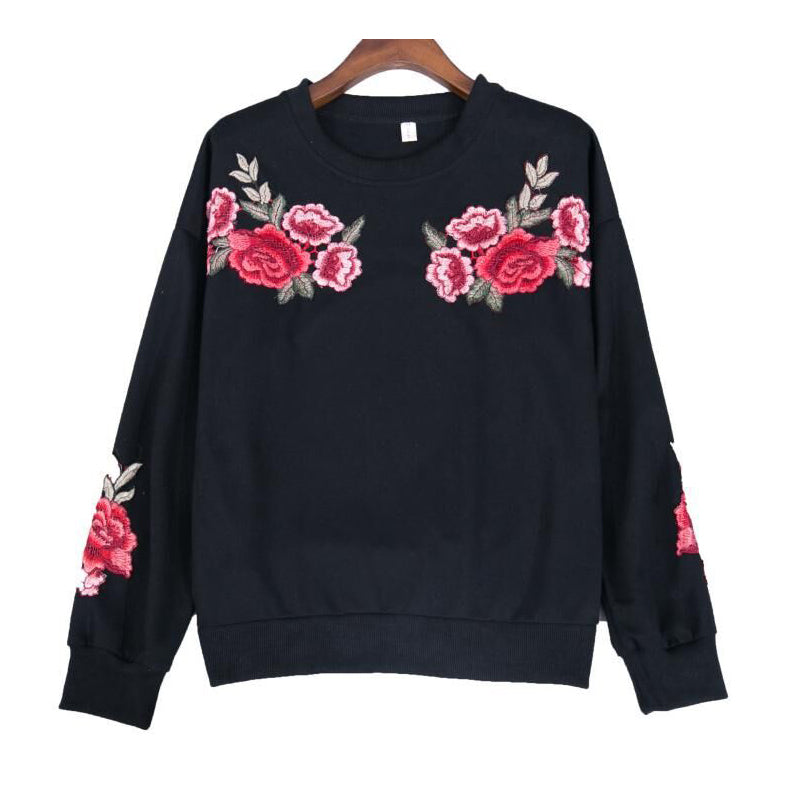 ROSE EMBROIDERED SWEATERS