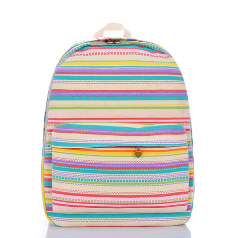 SlogPith RAINBOW STRIPE BACKPACK BAGS