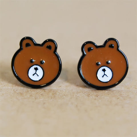 SlogPith BROWN BEAR EARRINGS