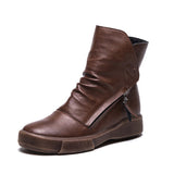 SlogPith RETRO FLAT BOOTS MARTIN BOOTS SHOES