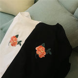 ROSE EMBROIDERY TEES