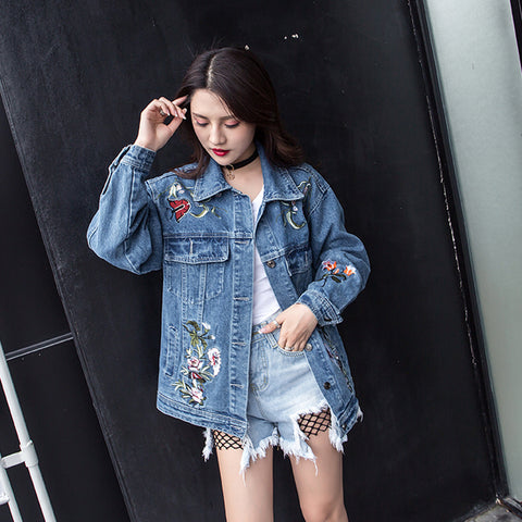 EMBROIDERY FLOWERS JACKET