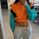 SlogPith CANDY COLOR EXPOSED NAVEL TOPS