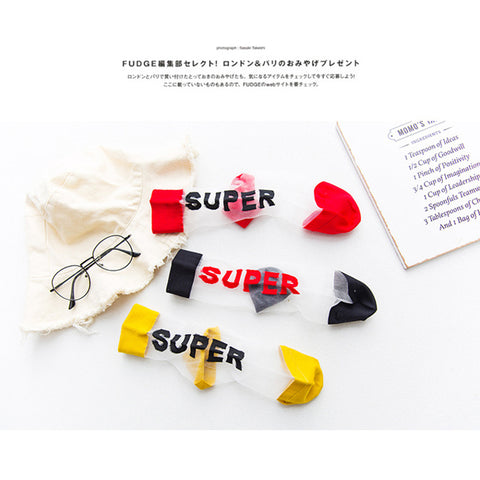 """SUPER"" CRYSTAL SOCKS"