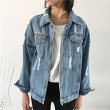 SlogPith CASUAL LOOSE DENIM JACKETS