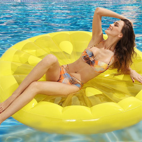 LEMON ROUND FLOATING ISLAND INFLATABLE FLOATING ROW