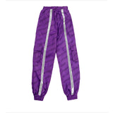 LETTER PRINTING REFLECTIVE STRIP PANTS