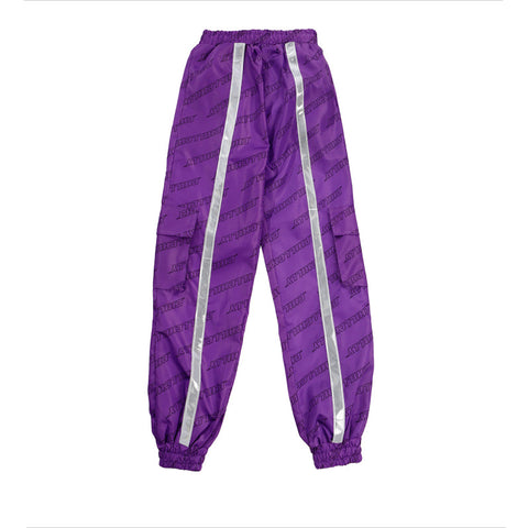 SlogPith LETTER PRINTING REFLECTIVE STRIP PANTS