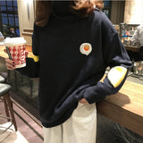 OMELETTE EMBROIDERY SWEATER