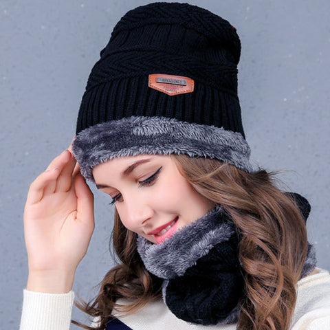 6 COLORS WINTER KEEP WARM CAP AND COLLAR(PLUS CASHMERE)