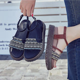 FASHION FLIP-FLOPS FOLK-CUSTOM WOMEN'S SANDALS SHOES