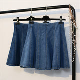HIGH WAIST DENIM SKIRTS
