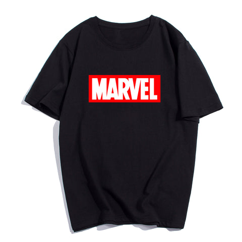 "SlogPith ""MARVEL"" LETTER PRINTED TEES"