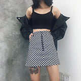 SlogPith PLAID SKIRTS