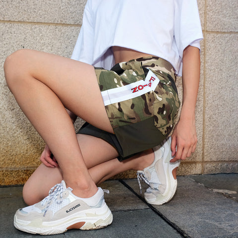 FASHION CAMOUFLAGE PRINTED CASUAL SHORTS PANTS