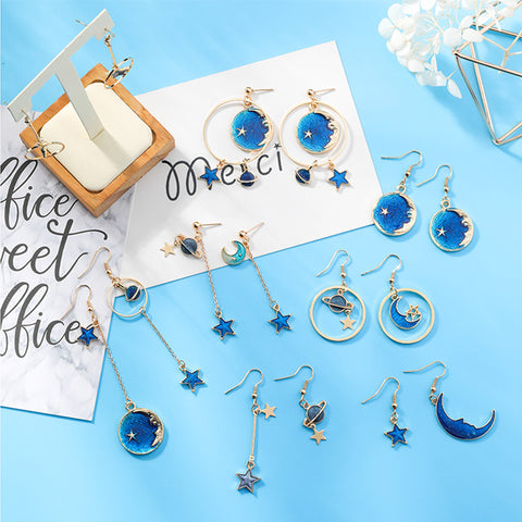 SlogPith BLUE MOON STAR EARRINGS 1