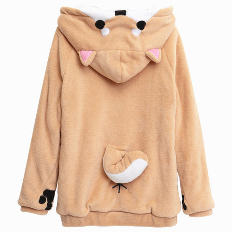 CUTE DOGE HOODIE WITH EARS