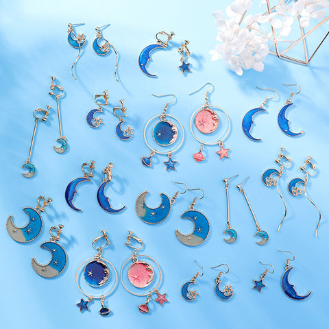 SlogPith BLUE MOON STAR EARRINGS 2