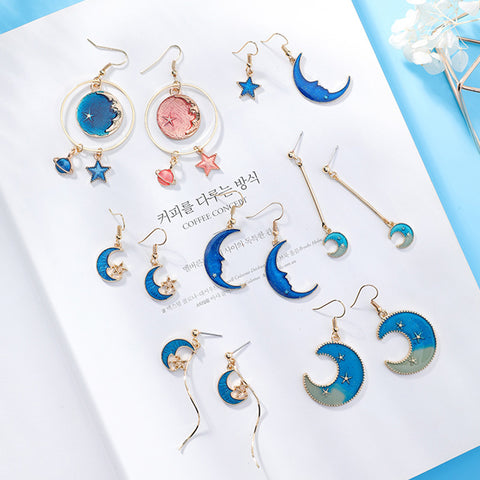 SlogPith BLUE MOON STAR EARRINGS 3