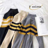 SlogPith COLORBLOCK STRIPED KNIT TOPS