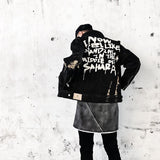 SlogPith GRAFFITI FONTS DENIM JACKETS FOR MEN AND WOMEN