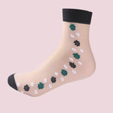 "IUYZW ""FLOWERS"" CRYSTAL SOCKS"