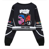 GAME PRINT LOOSE SWEATERS (SHORT PARAGRAPH)