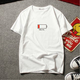 IUYZW BATTERY PRINTED SHORT-SLEEVED TEES