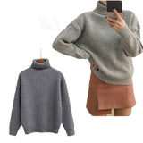 IUYZW 8 COLORS SOLID COLOR KEEP WARM SWEATERS (TICKER)