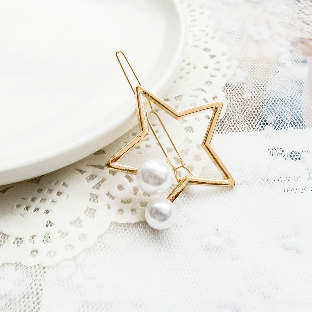 SlogPith GEOMETRIC PEARL HAIRPIN