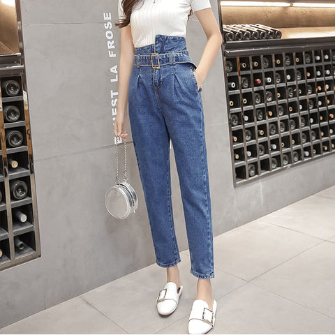 HIGH WAIST HARLAN DENIM PANTS