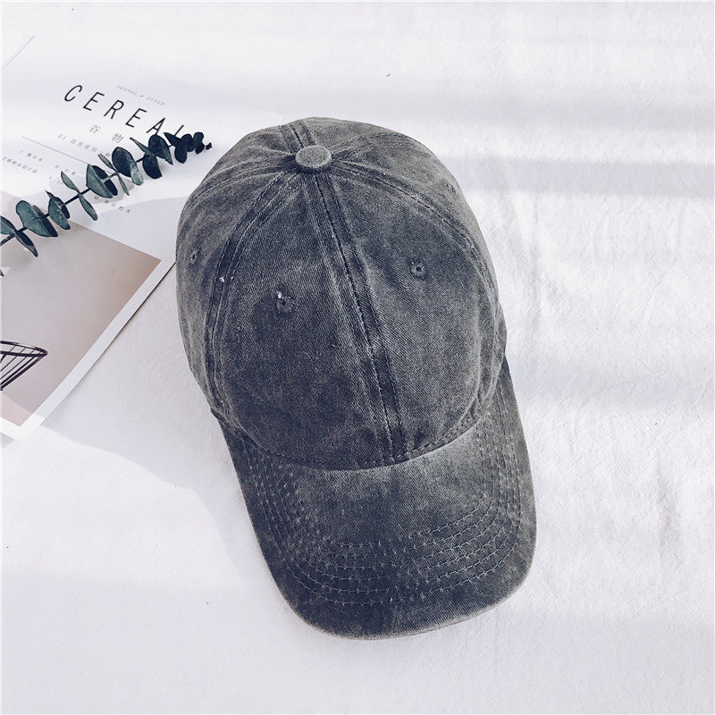 IUYZW VINTAGE WASHED COTTON DENIM SOFT TOP HATS