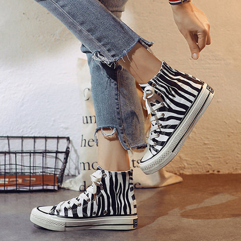 SlogPith ZEBRA CANVAS SHOES