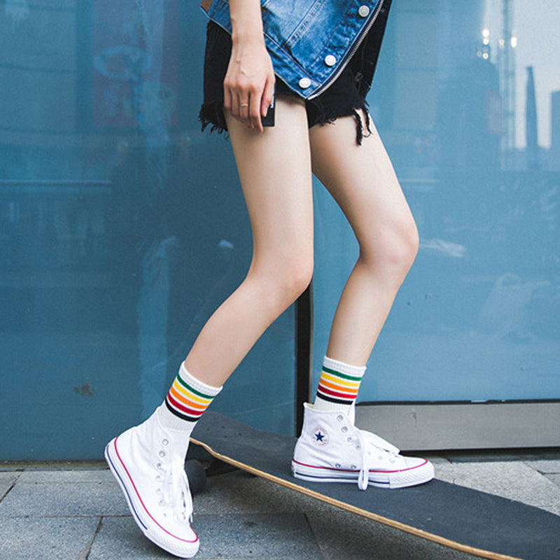 SlogPith SPORTS AND LEISURE RAINBOW COTTON SOCKS