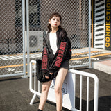 SlogPith EMBROIDERED BASEBALL UNIFORM LOOSE JACKETS