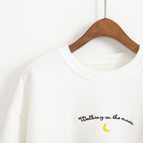 LETTERS MOON EMBROIDERY SWEATERS