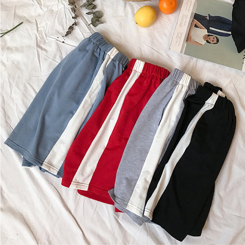 SlogPith SPORTS CASUAL STRIPED SHORTS RUNNING PANTS BOTTOMS