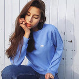 POLAR BEAR EMBROIDERY LOOSE SWEATERS