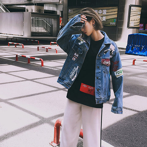 RETRO HONG KONG-FLAVORED DENIM JACKETS