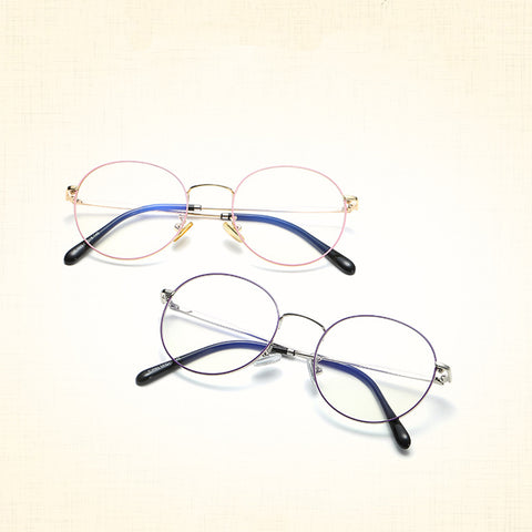 5 COLORS LITERARY ROUND FLAT GLASSES