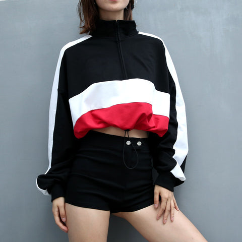 CONTRAST STITCHING SWEATERS