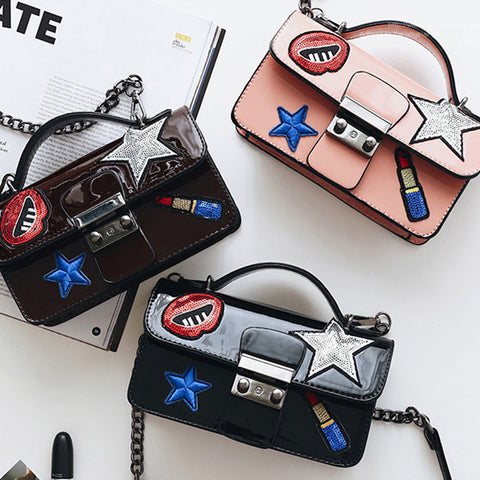 3 COLORS PATCH FASHION BAGS