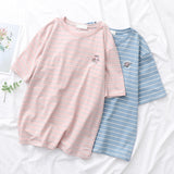 SlogPith COLLEGE STYLE STRIPED TEES