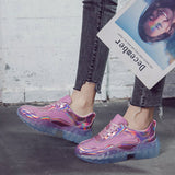 SEQUINED MESH REFLECTIVE SHOES