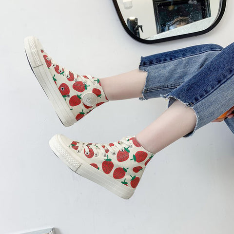 SlogPith STRAWBERRY CANVAS SHOES