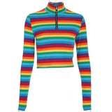 SlogPith RAINBOW LONG SLEEVE TOPS