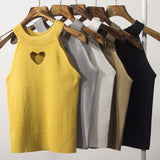 SHORT HEART CUTOUT TANK TOPS