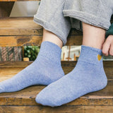 LOVE EMBROIDERY COTTON SOCKS