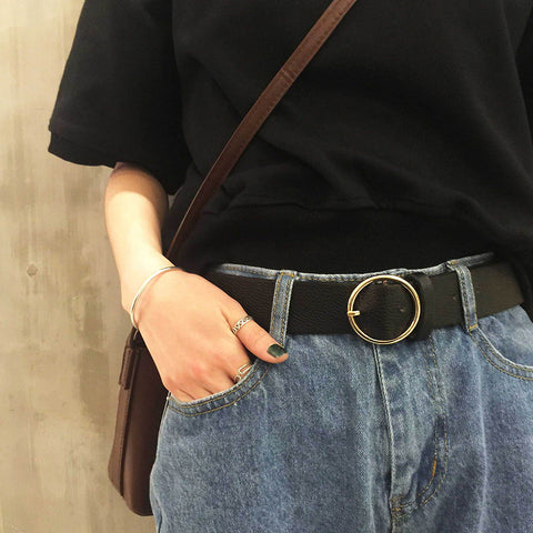 IUYZW HARAJUKU RETRO PIN BUCKLE BELTS