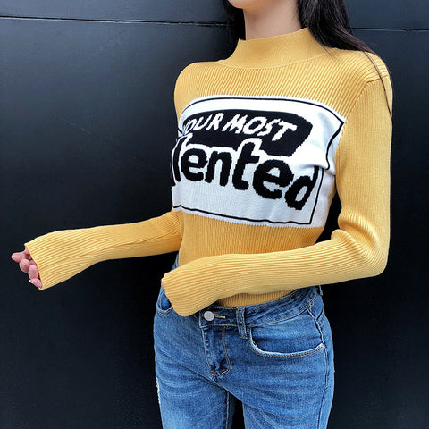 """YOUR MOST TALENTED"" KNITTED SWEATERS"